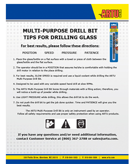 Drilling instructions